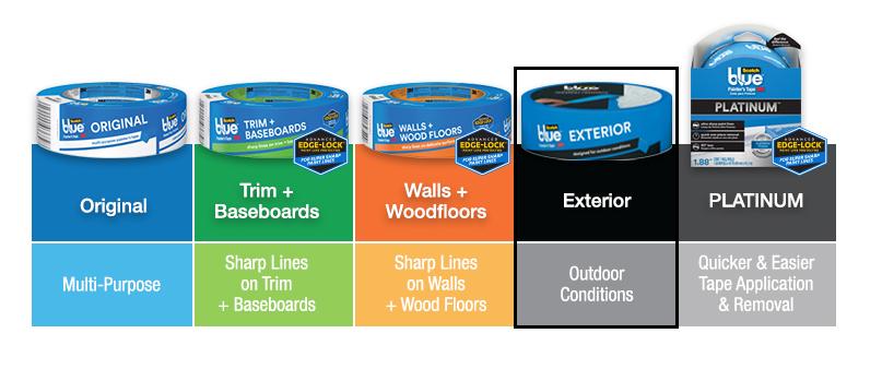 3m Scotchblue In X 45 Yds Exterior Surfaces Painter 39 S Tape 2097 48ec The Home Depot