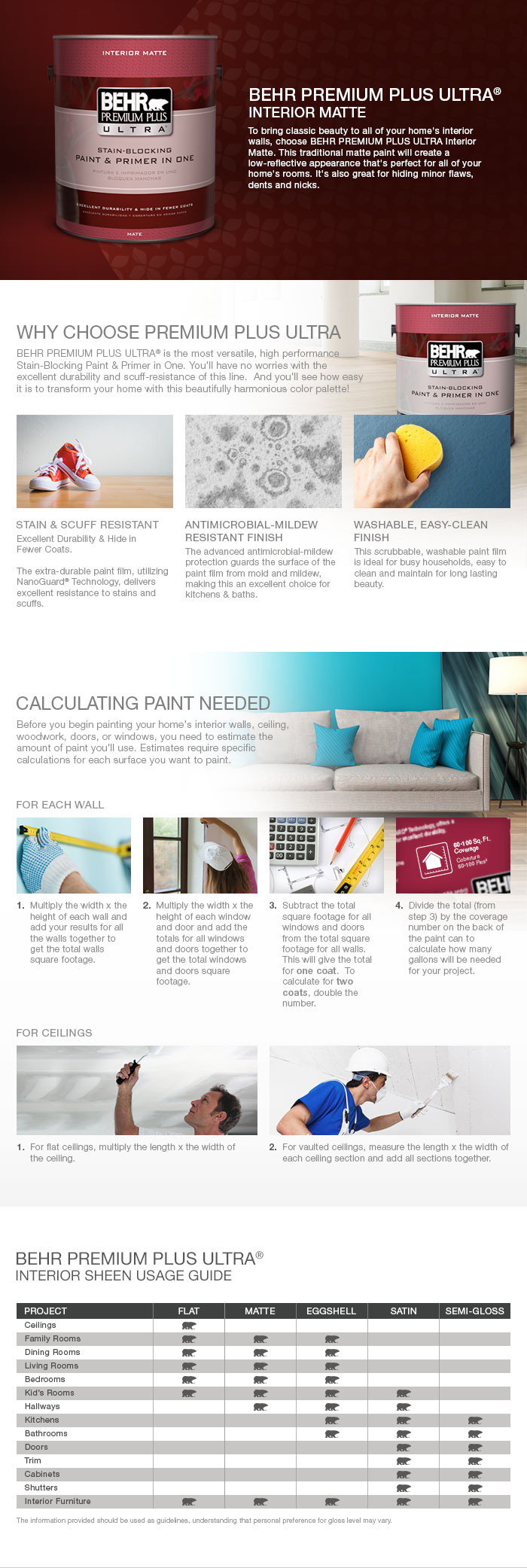 Product Overview. BEHR Premium Plus ...