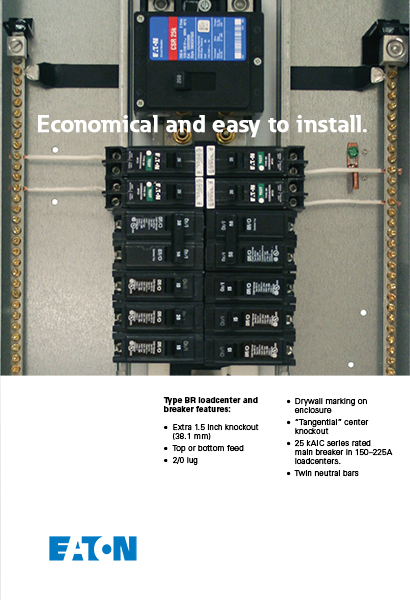eaton 100 amp 20 space circuit type br main breaker load center value pack includes 6 breakers. Black Bedroom Furniture Sets. Home Design Ideas