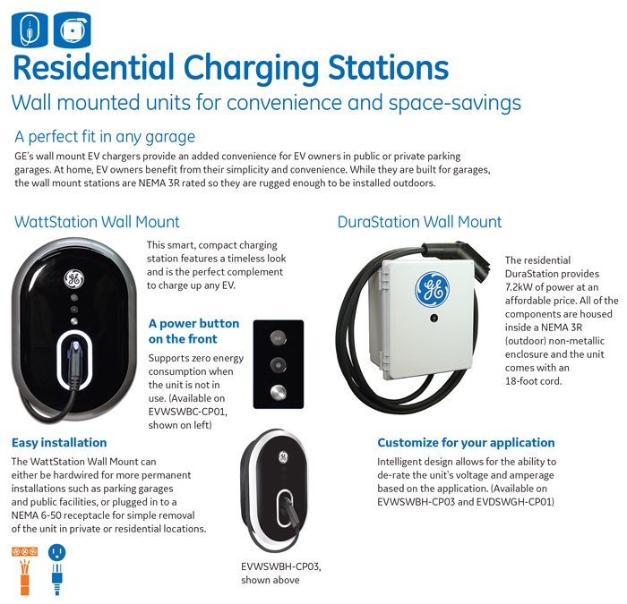 Ge Ev Electric Car Charger Level  Charging Station