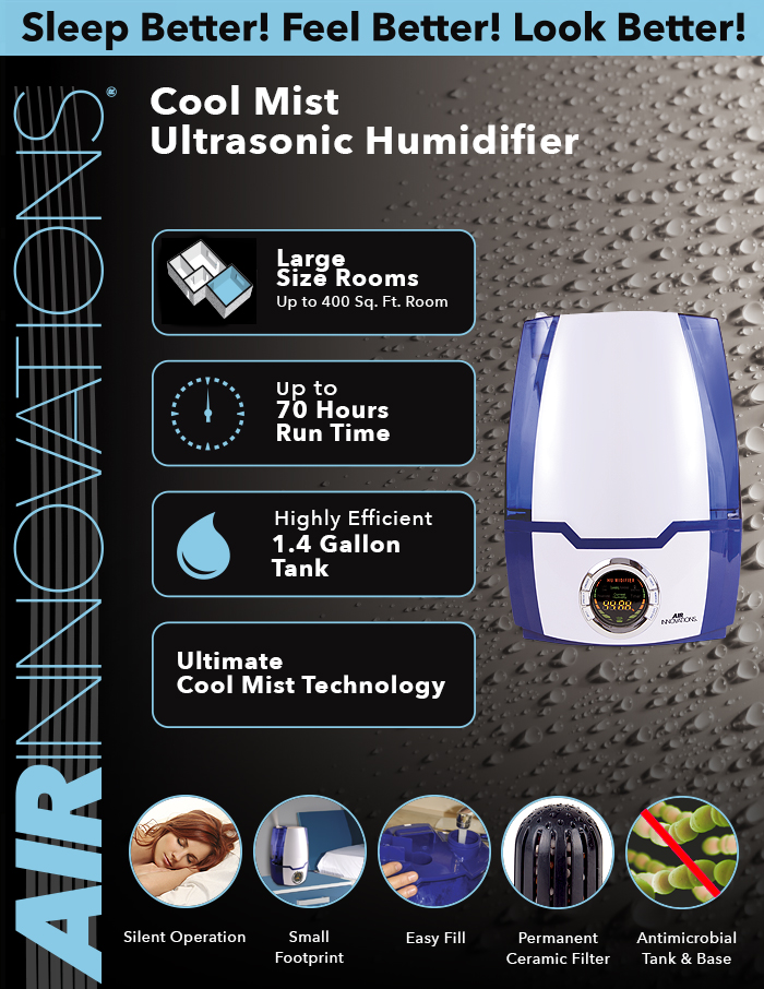 Air Innovations 1 37 Gal Cool Mist Digital Humidifier For