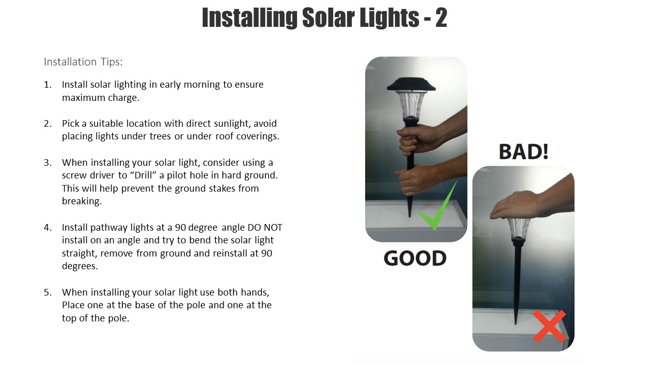 tips for selecting exterior lighting at the home depot - Solar Pathway Lights