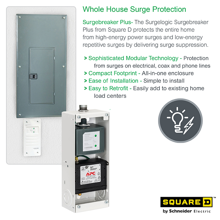Square D Surge Breaker Plus Whole House Surge Protector