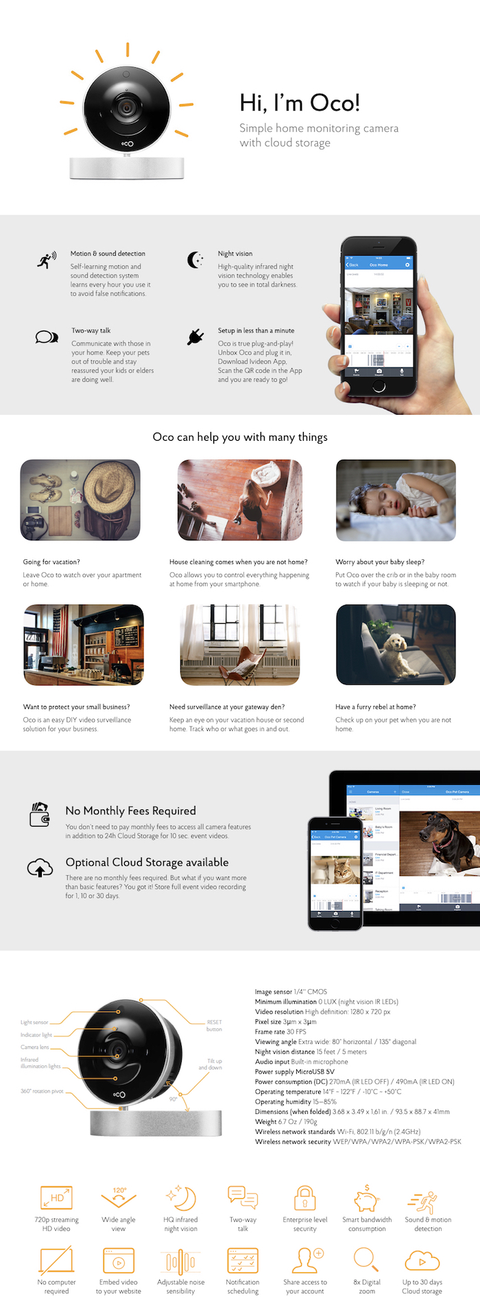 oco wireless wi fi p indoor hd security camera co us the info guides