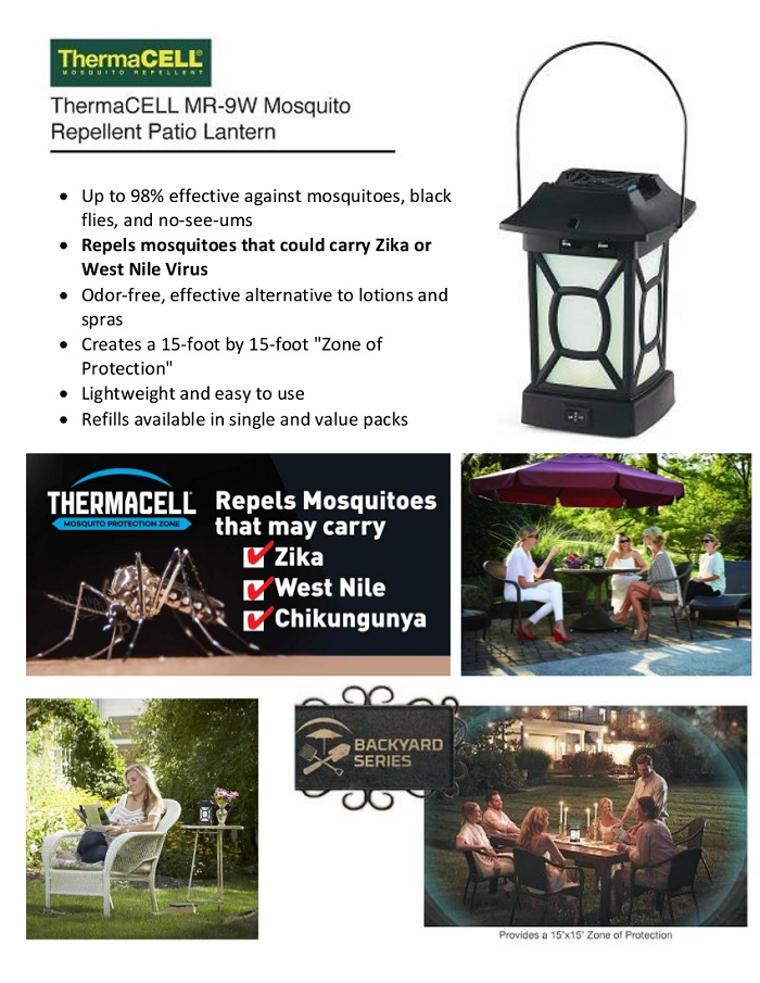 Click here for more information on Electronic Recycling Programs - ThermaCELL Mosquito Repellent Patio Lantern-MR-9W - The Home Depot