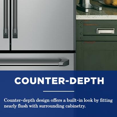 GE  Cu Ft Counter Depth French Door Refrigerator In - Ge profile counter depth french door
