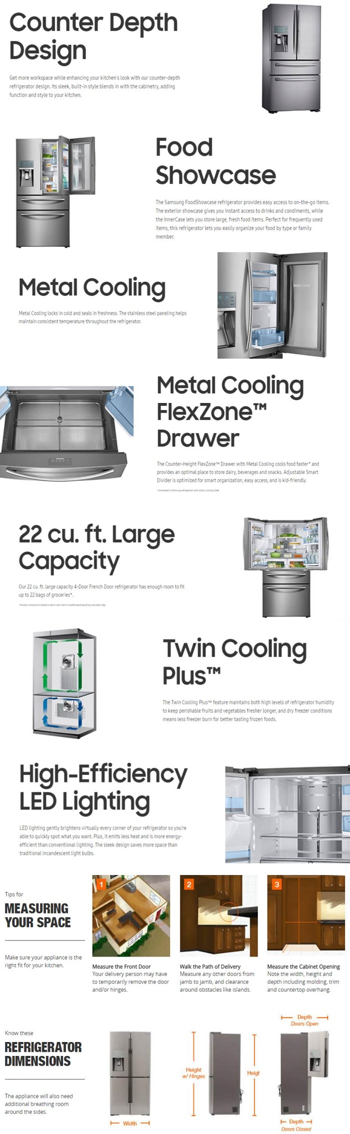 Counter depth refrigerators home depot - Click Here For More Information On Electronic Recycling Programs
