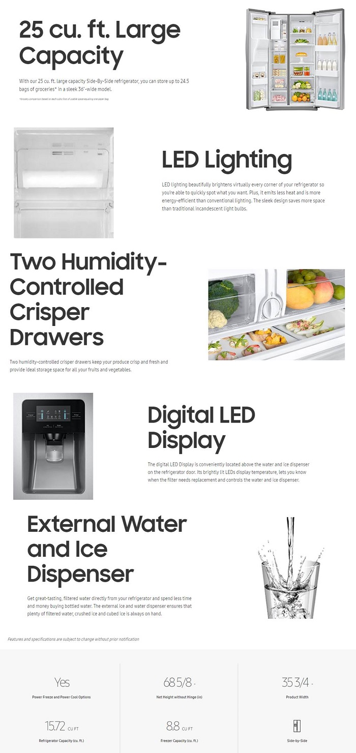 Side by side refrigerator no water dispenser - Info Guides