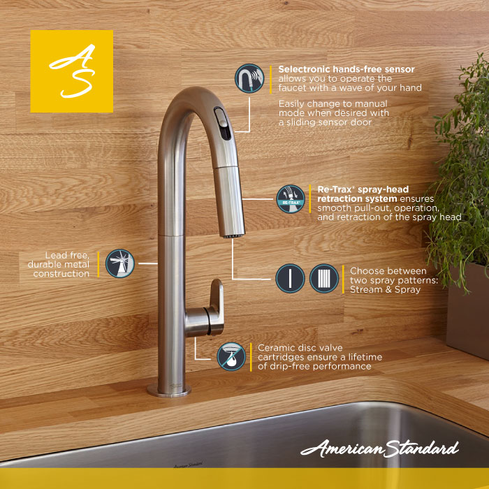 product overview the beale pulldown kitchen faucet from american standard