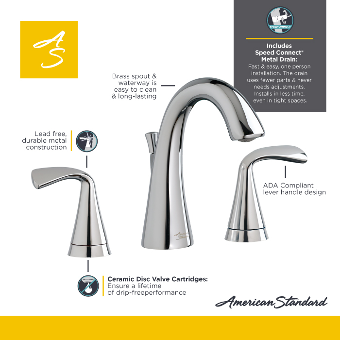 Bathroom Faucets Easy To Clean american standard fluent 8 in. widespread bathroom faucet with