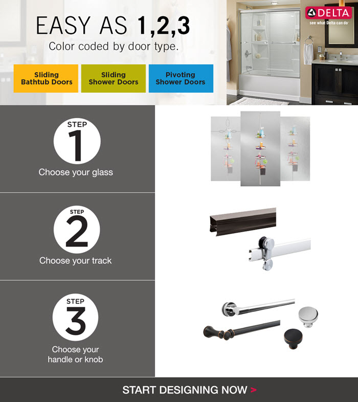 Delta 60 in Sliding Bathtub Door Track Assembly Kit in Chrome