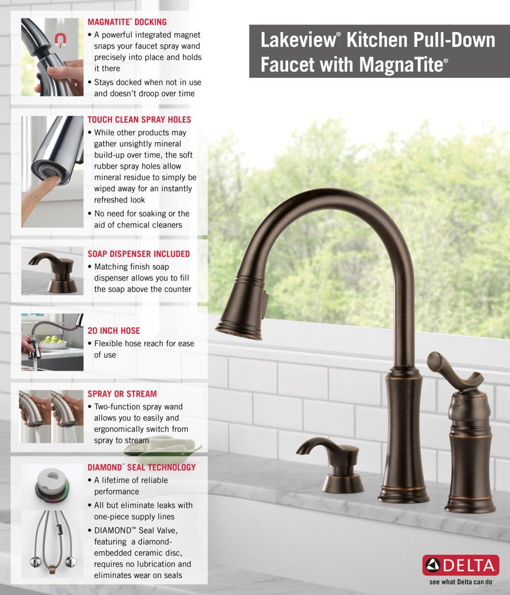 Kitchen And Faucet And Lakeview And Installation