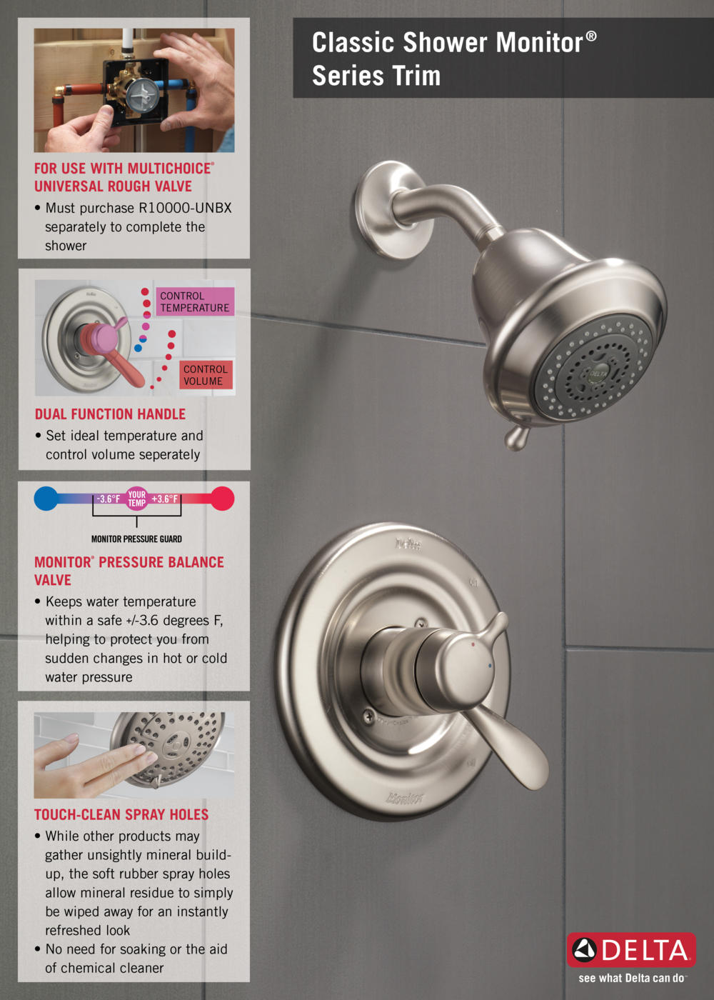 home depot faucet t17230ss t17 shower infographic