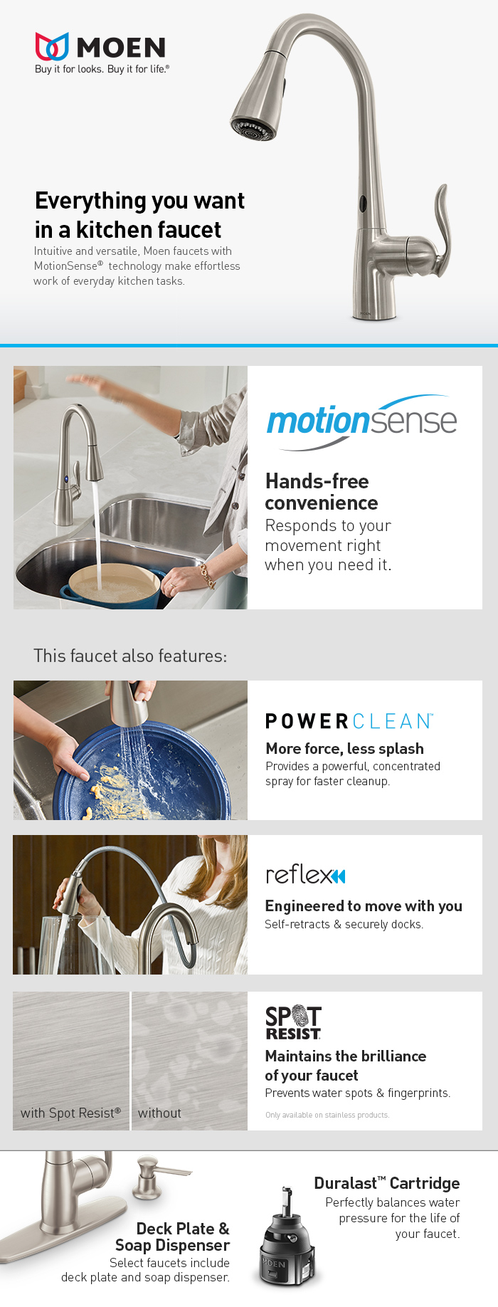 Motionsense Kitchen Faucet Moen Arbor Single Handle Pull Down Sprayer Kitchen Faucet With