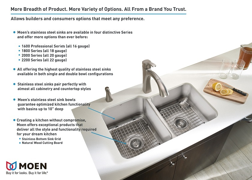 Shop MOEN Sinks at The Home Depot