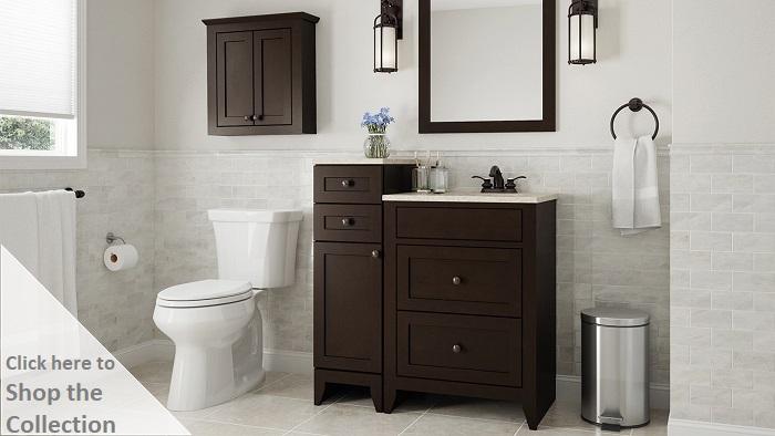 Modular Bathroom Cabinets glacier bay modular 30.5 in. w bath vanity in java with solid