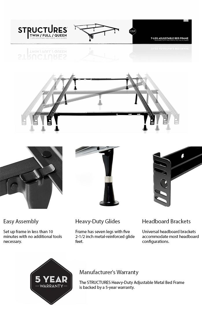 product overview - Adjustable Metal Bed Frame
