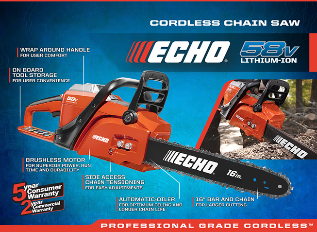 ECHO Cordless Chain Saw