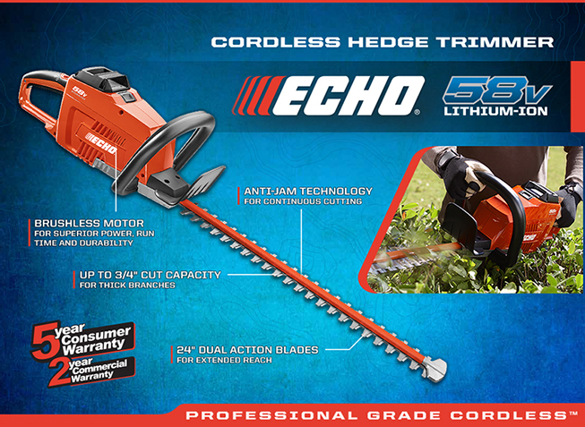ECHO Cordless Hedge Trimmer
