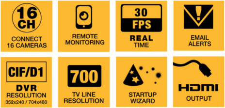 Q-SEE Premium Series 8 Channel TVL Camera Cameras Night Vision