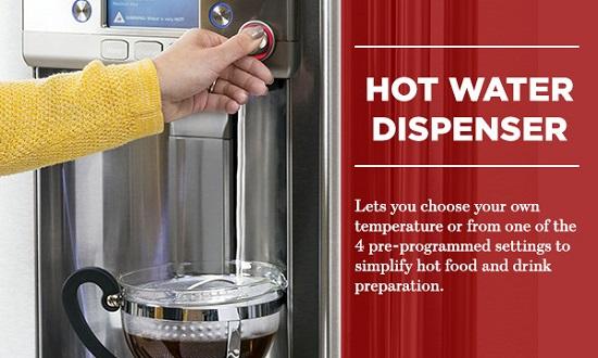 Hot Water Refrigerator Dispenser