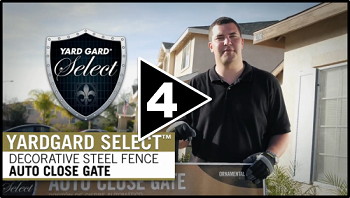 How to Install Decorative Steel Fence Part Four Auto Close Gate