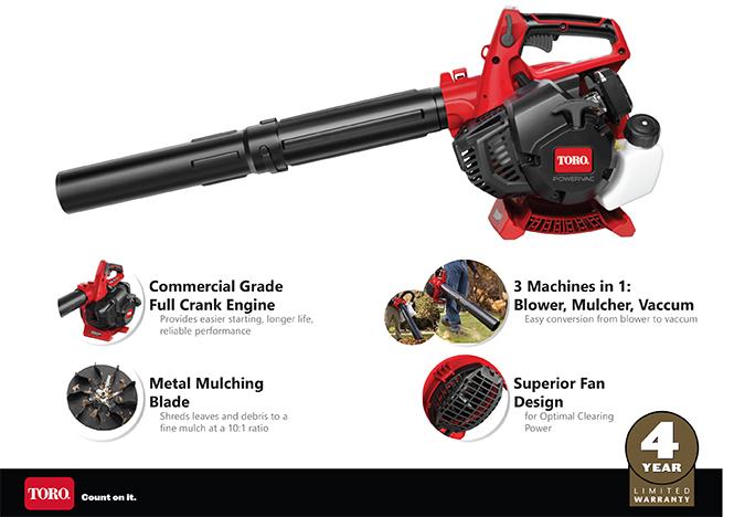 Toro 150 MPH 460 CFM 2-Cycle 3-In-1 Gas Handheld Blower Vacuum