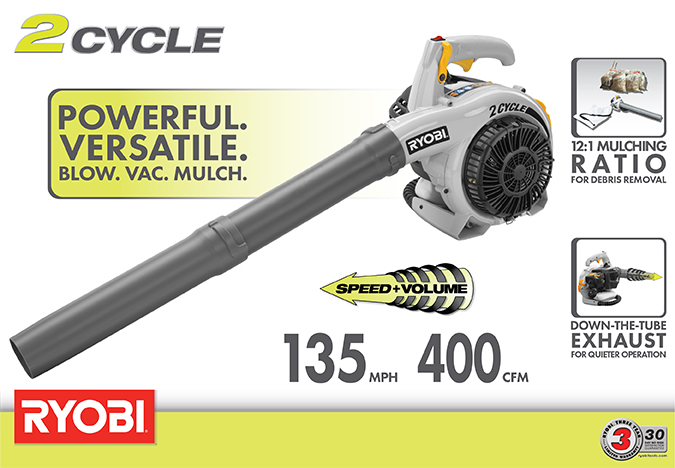 Ryobi 150 MPH 400 CFM 26cc Gas Blower Vacuum
