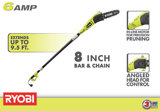Ryobi 6-Amp Pole Chainsaw