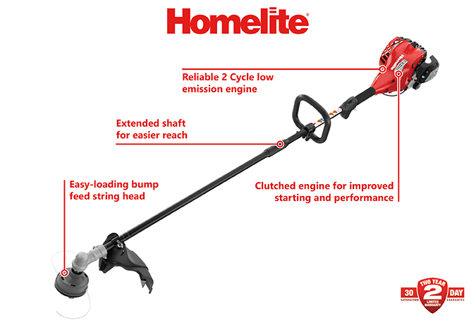 Homelite 2-Cycle 26 cc Straight Shaft Gas Trimmer