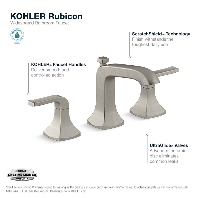Bathroom Faucets Home Depot kohler rubicon 8 in. widespread 2-handle bathroom faucet in
