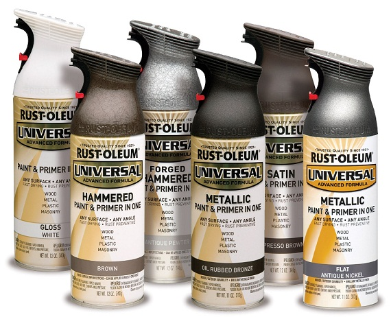 Rust oleum universal 11 oz all surface metallic satin oil rubbed bronze spray paint and primer Metallic spray paint colors