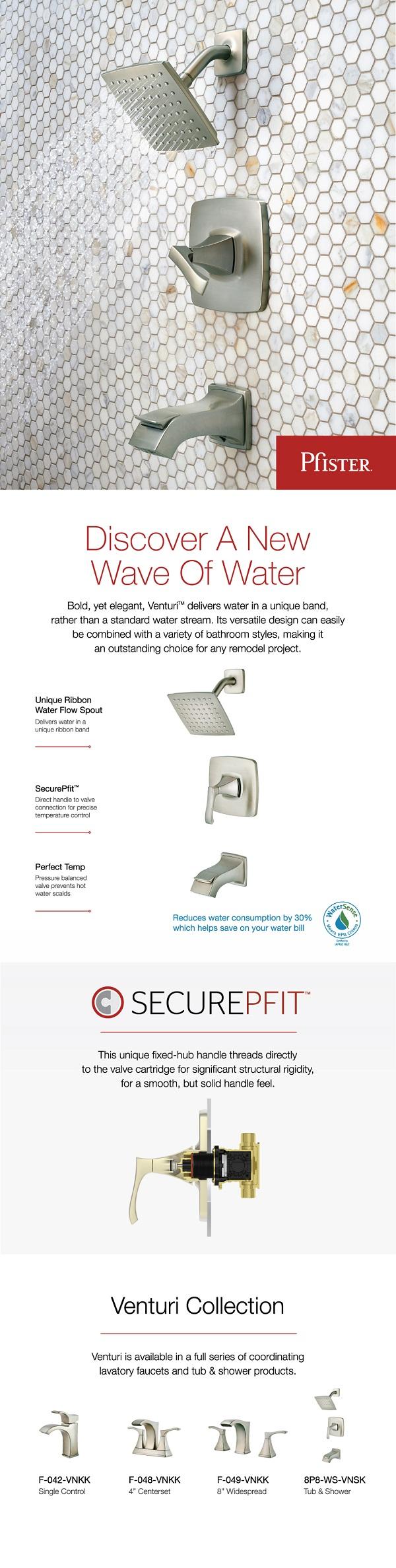 Pfister Venturi Single Handle 1 Spray Tub And Shower
