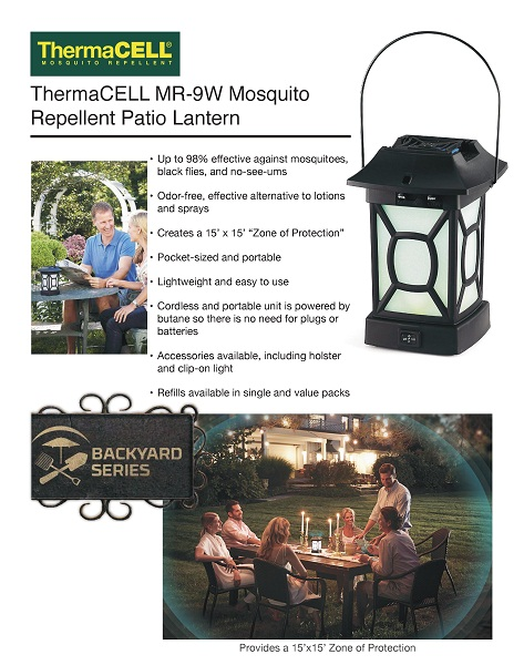 Product Overview - ThermaCELL Mosquito Repellent Patio Lantern-MR-9W - The Home Depot
