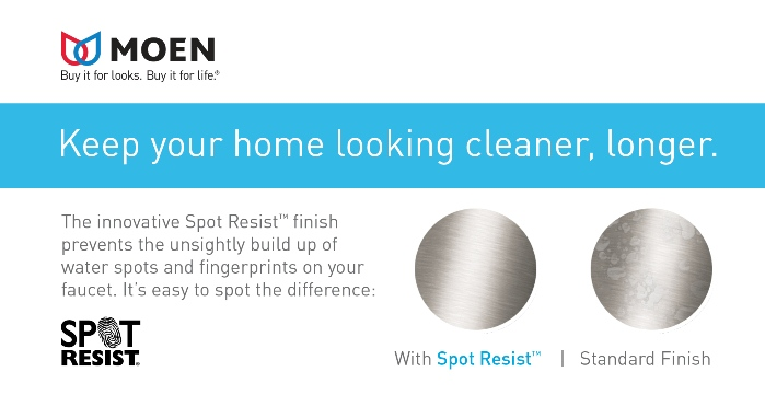 MOEN Spot Resist Brushed Nickel Finish