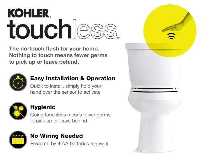 Kohler Cimarron Touchless Round Toilet