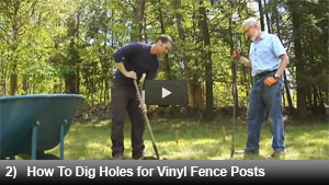 How to Dig Holes for Vinyl Fence Posts