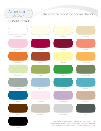 Chalky Finish Color Chart