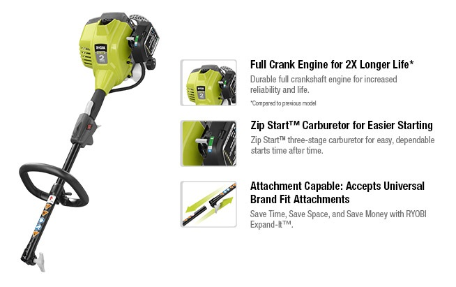 Ryobi Full Crank Gas Power Head