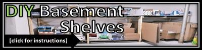 DIY Basement Shelves