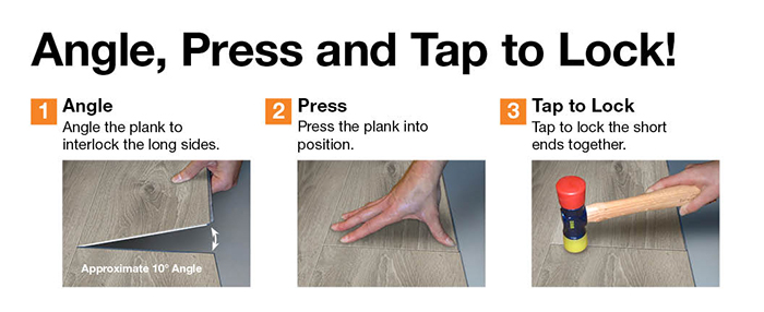 Allure Interlocking Vinyl Plank Flooring Installation ...