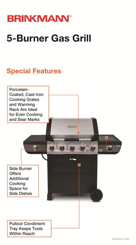 Brinkmann 5-Burner Propane Gas Grill