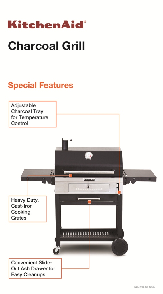 KitchenAid Cart-Style Charcoal Grill