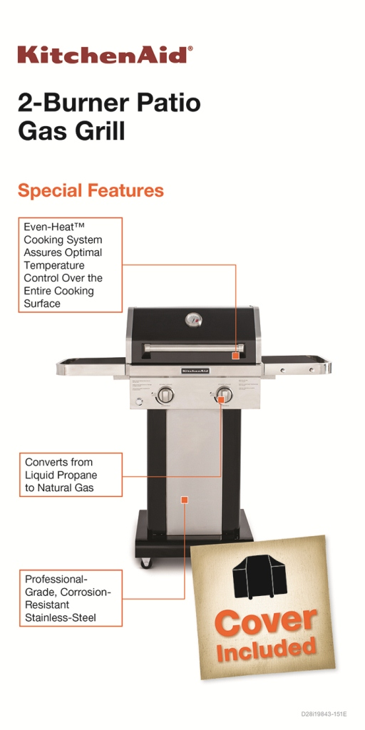 KitchenAid 2-Burner Propane Gas Grill