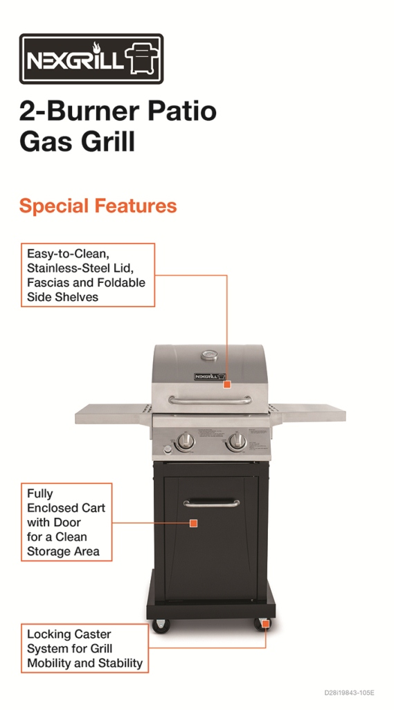 Gas Grills For Small Spaces ~ Nexgrill small space burner propane gas grill in
