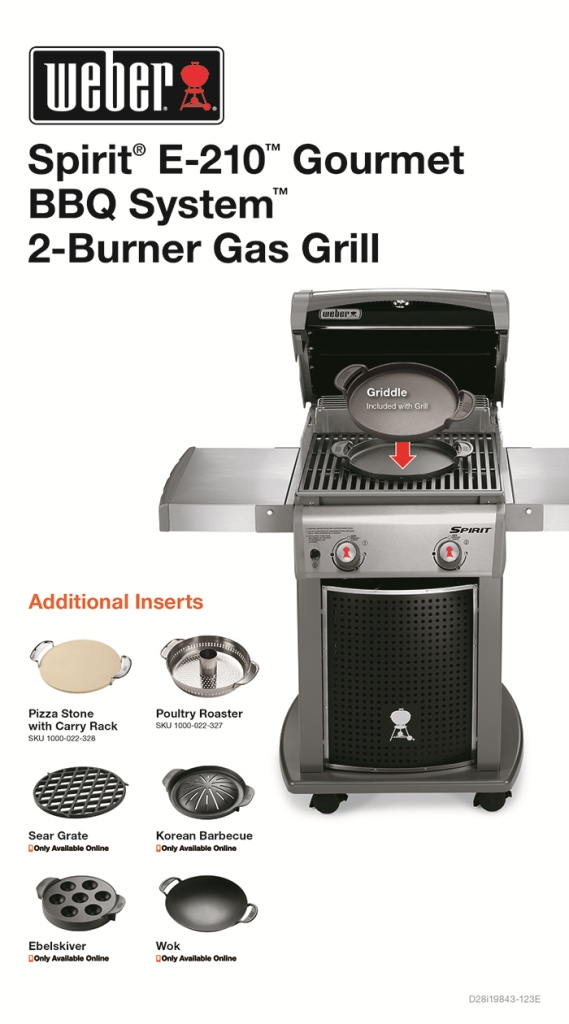 weber spirit e 210 2 burner propane gas grill featuring. Black Bedroom Furniture Sets. Home Design Ideas