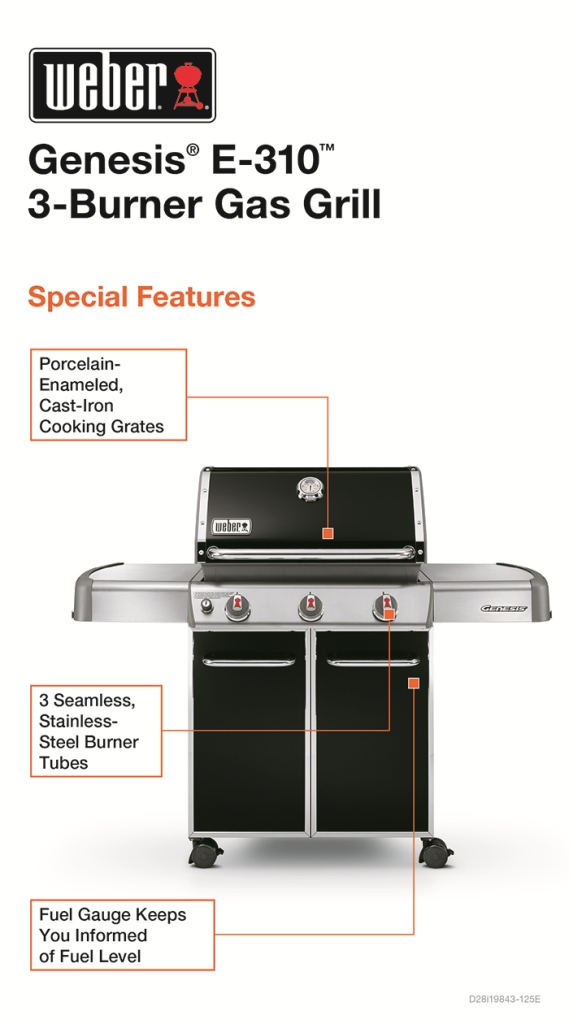 Weber Genesis E-310 3-Burner Propane Gas Grill