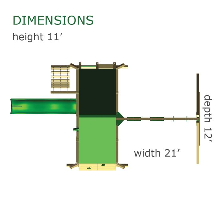 Gorilla Playsets dimensions