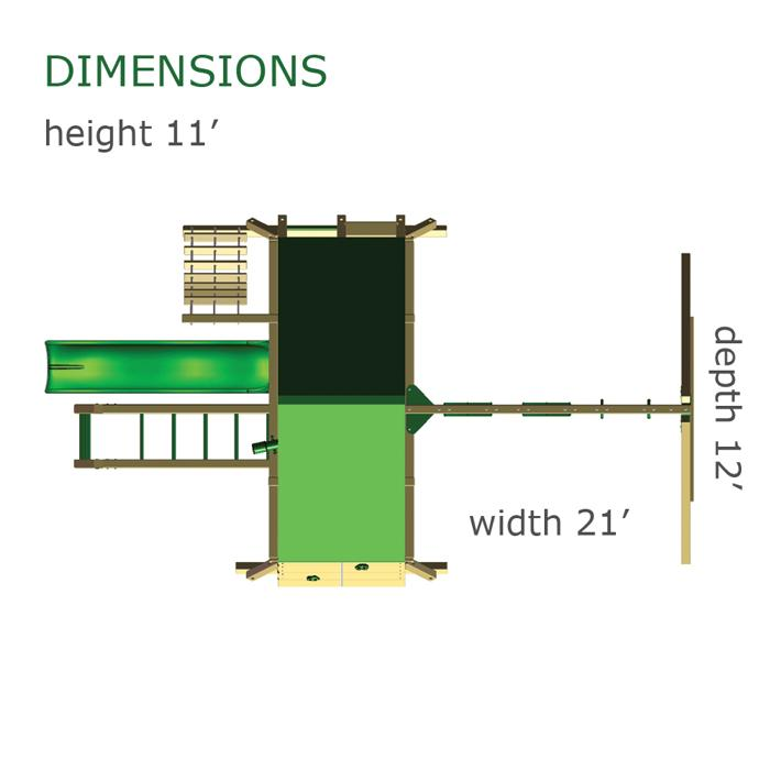 Gorilla Playsets dimensions