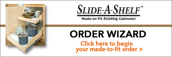 Slide-a-Shelf Home Depot Order Wizard